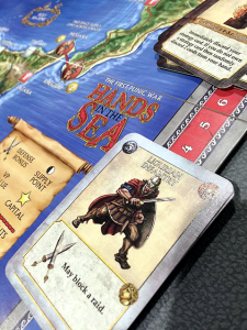 Another shot of the awesome linen cards from www.printplaygames.com